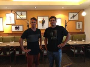 Host David Scales and Morgan Maassen