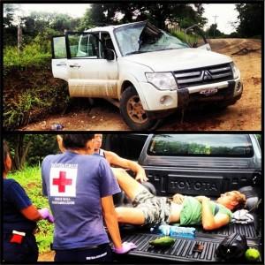 Michael Dunphy's Instagram from his car crash in Costa Rica. @michaeldunphy