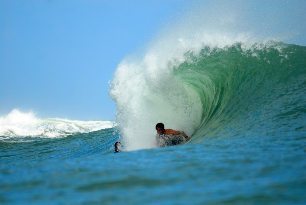 Derek Peters at one of the many reef breaks in Bocas del Toro.