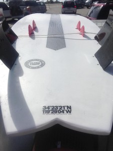 Davey Smith's 8-fin prototype.