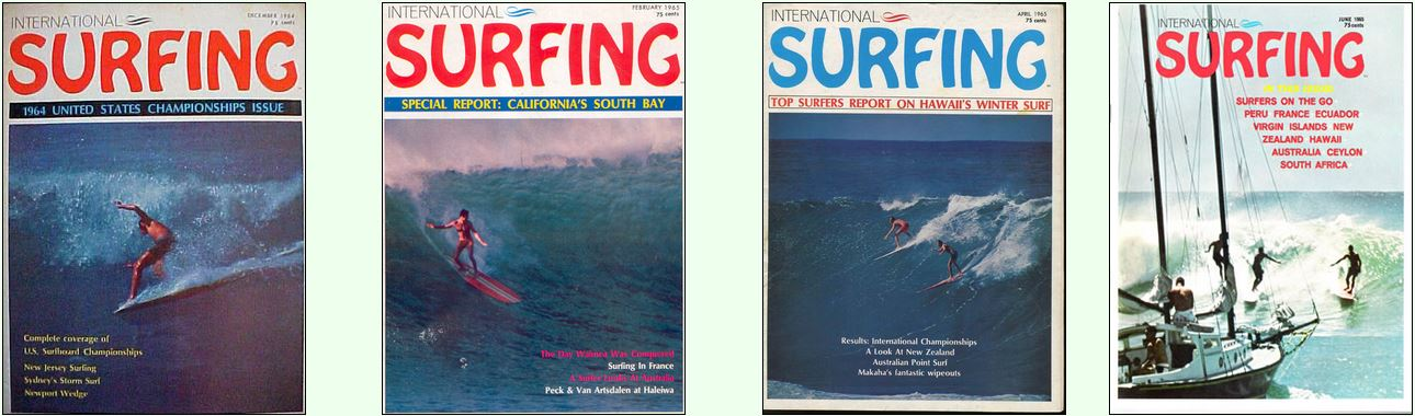 Early International Surfing Covers.