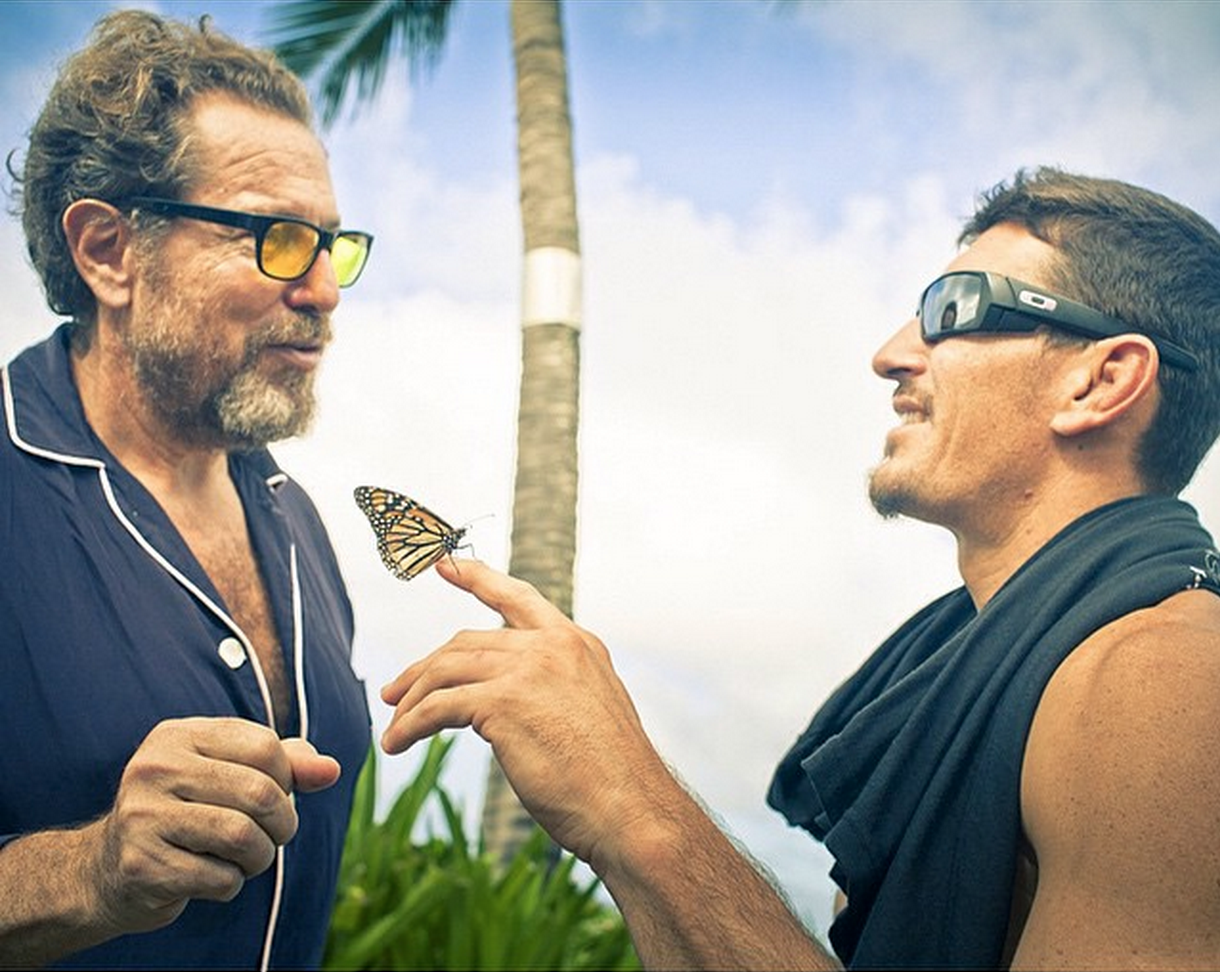 Julian Schnabel and Dustin Barca (David's favorite)