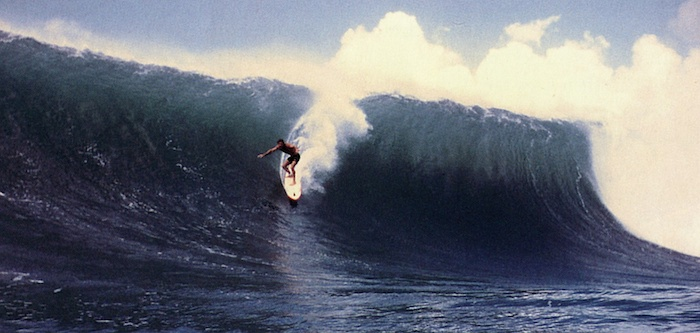 Randy Rarick at Waimea in 1982 by Don James