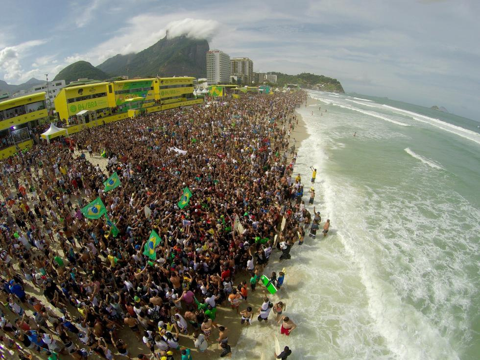 The crowd in Rio in 2015