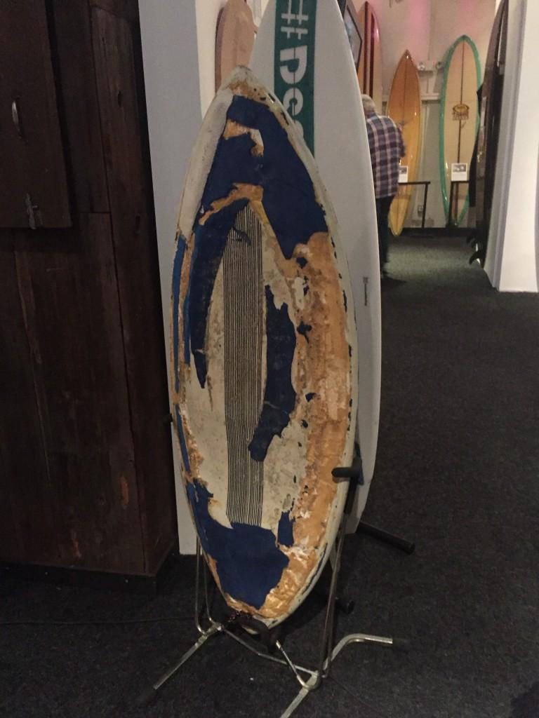 Tom Curren's infamous skimboard