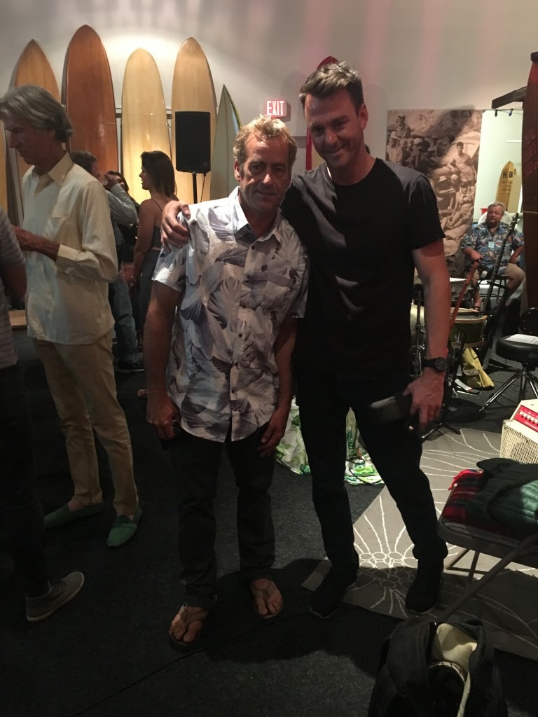 Surf Splendor host David Scales with Tom Curren