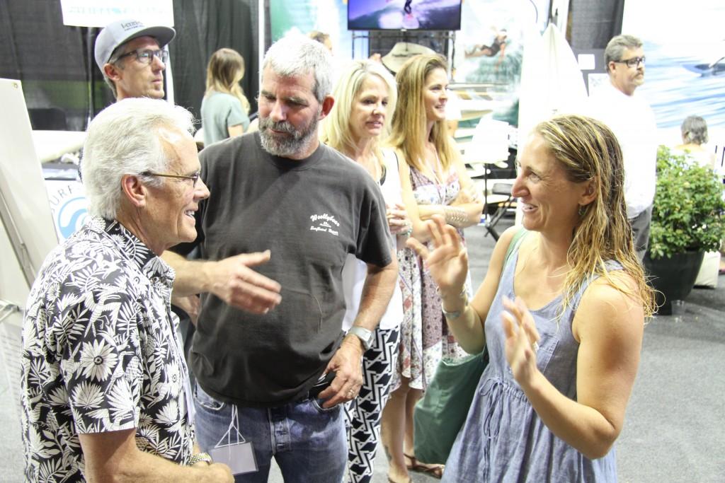Wayne with former Surf Splendor guest Marc Andreini and Santa Cruz shaper Ashley Lloyd.