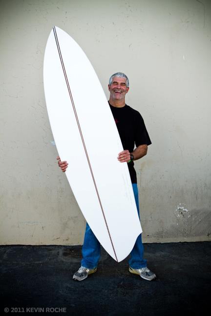 Wayne Rich with his winning shape for the Icons of Foam Tribute to Carl Ekstrom.