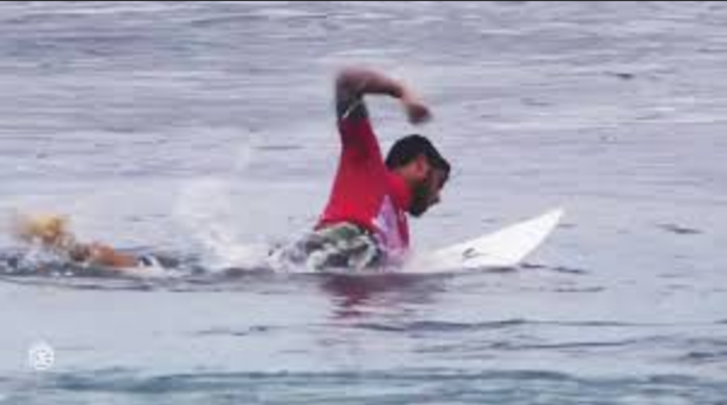 The world's best small wave surfer will need to figure out large barreling lefts if he ever wants to win a world title.