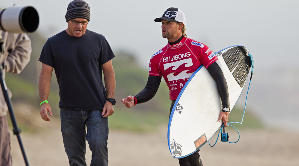 Gally with Damo at JBay in 2011